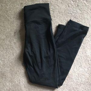 High waisted black scrunch leggings 7/8 length